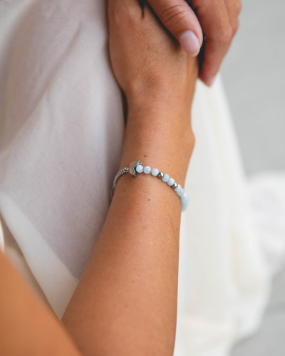 Didyma - Armband voor dames met edelstenen - Aquamarijn - CH1