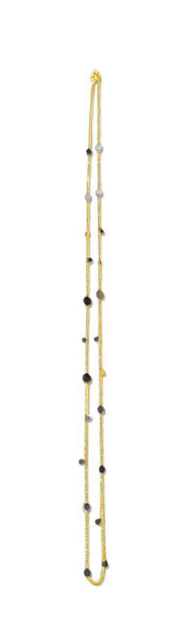 Ketting 18kt goud bi-color 80cm