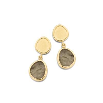 Femme adoree - Oorslinger in 18kt geel goud met Labradorite - 01S0117/1