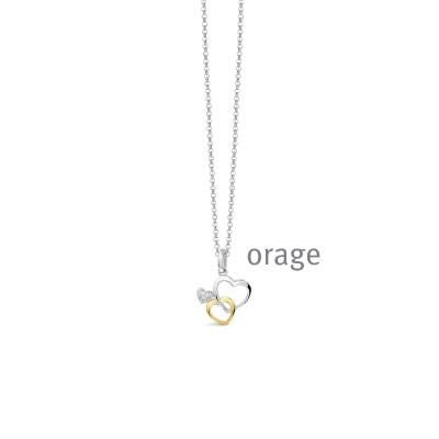 Orage - Halsketting met hanger in zilver - AS018