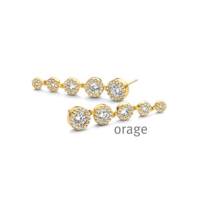 Orage - oorringen plaque met zirkonium - O8026