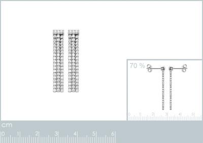 Oorhanger in zilver met zirkonium 1556510