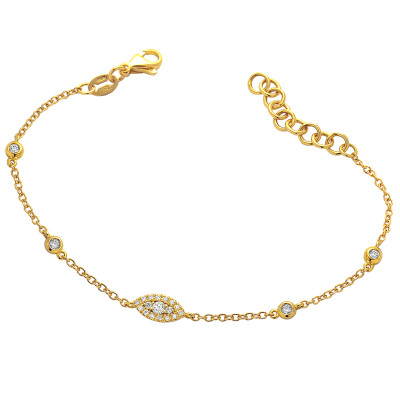 Armband 18kt geel goud met briljant - UP1
