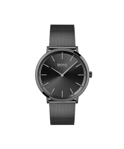 Hugo Boss - herenhorloge 40mm met zwarte milanese band en zwarte wijzerplaat - 1513826