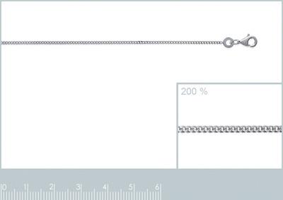 Ketting - zilver - Gourmette 1mm 38