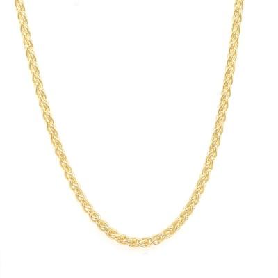 Halsketting in plaqué or op 60cm 20-10189-060-01