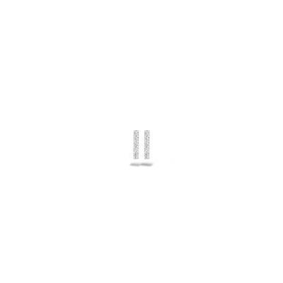 Blush - oorring 14kt wit goud - 7196WZI