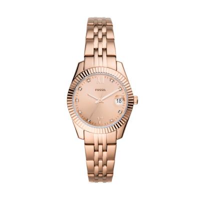 Fossil - dameshorloge roze staal - ES4898