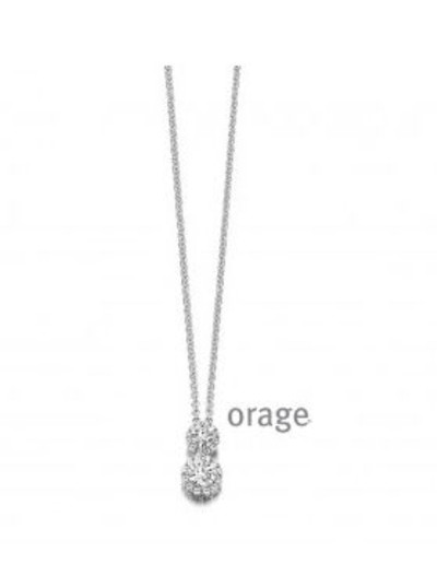 Orage - Halsketting in zilver met zirkonium - AH141