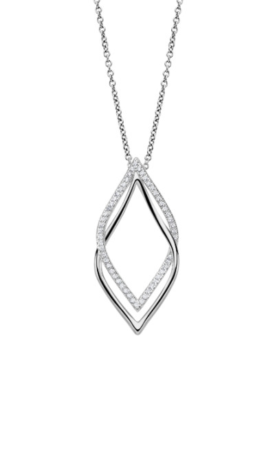 Lotus style - zilver ketting met hanger - LP1791-1/1