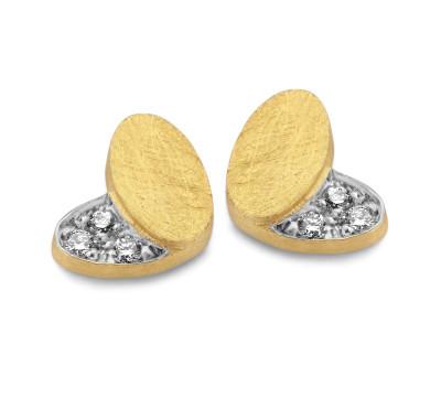 Femme adorée - oorringen 18kt geel goud briljant - 030307G