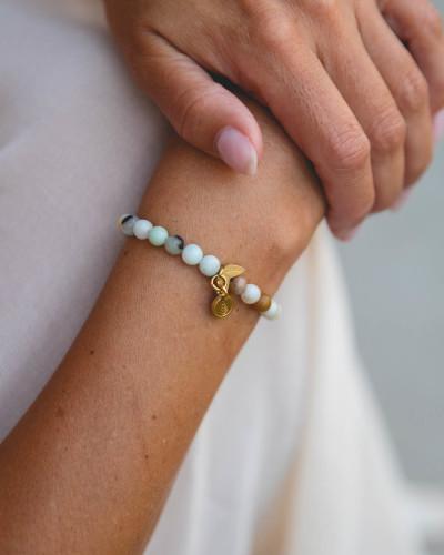 Didyma - Armband voor dames met edelstenen - Amazoniet - NE5 - XS