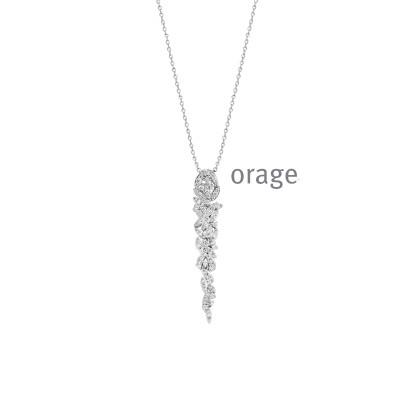 Orage - Ketting met hanger zilver en zirkonium - K8028 - 45cm