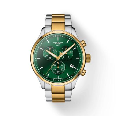 Tissot - herenhorloge chrono XL bi-color groene wijzerplaat - T116.617.22.091.00
