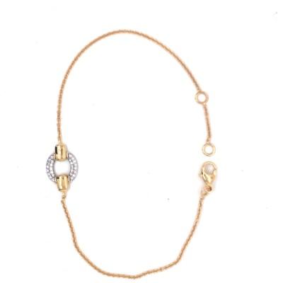 Armband 18kt geel goud met briljant - 90-70962-1272F