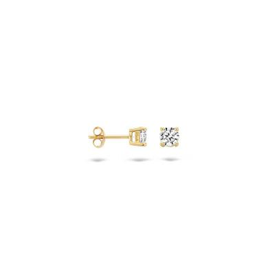Blush - oorringen 14kt geel goud met zirkonium - 7213YZI