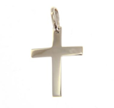 Hanger 18kt wit goud - kruis - 180878