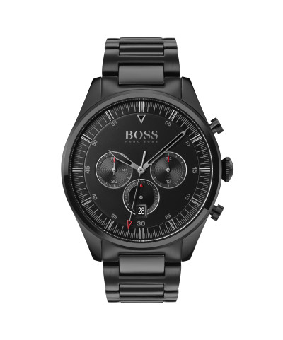 Hugo Boss - herenhorloge 44mm chronograaf zwart metalen band - 1513714