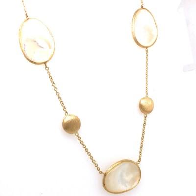 Femme adoree - Halsketting in 18kt geel goud en parelmoer - 04C0402