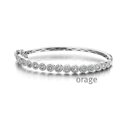 Orage - armband zilver met zirkonium - A8012 - 19cm