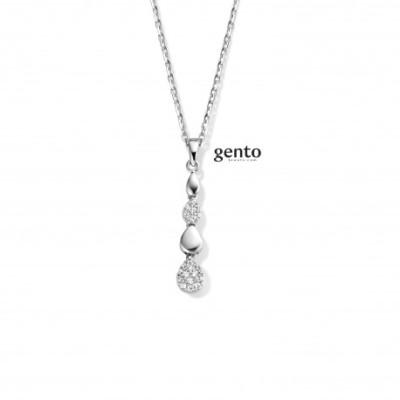 Gento - Halsketting met hanger in zilver - LA31