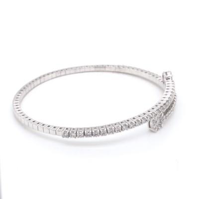 Armband 18kt wit goud met briljant - 6726