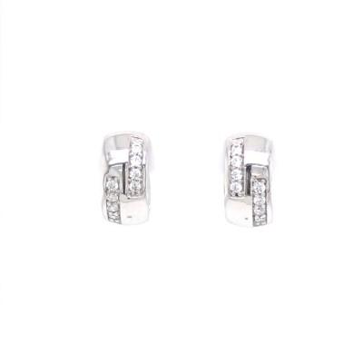 Creool in zilver met zirkonium - 340716