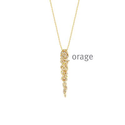 Orage - Ketting met hanger plaque met zirkonium - K8030 - 45cm