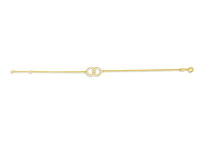 Armband 18kt geel goud met zirkonium