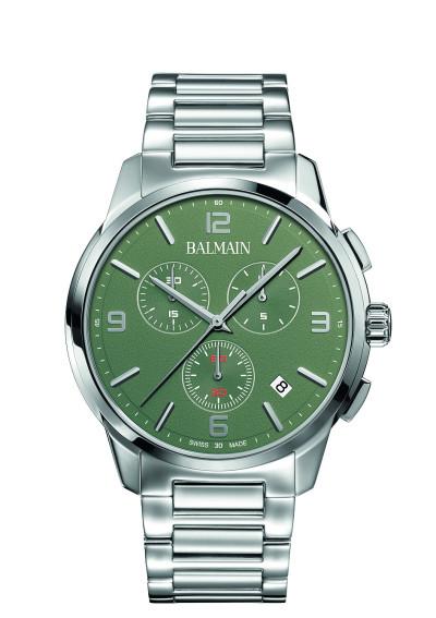Balmain - Heren Horloge Chronograaf met groene wijzerplaat B74813374