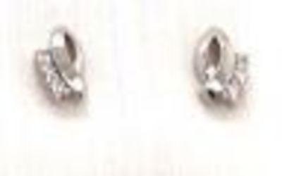 Orage - Oorknop in zilver met zirkonium - O/122/Aset1