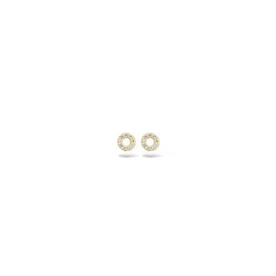 Blush - oorknoppen 14kt geel goud met zirkonium - 7193YZI
