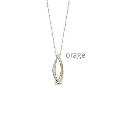 Orage - Halsketting met hanger in zilver - AS057
