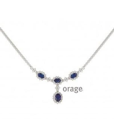 Orage - Collier in zilver met zirkonium - K/2825