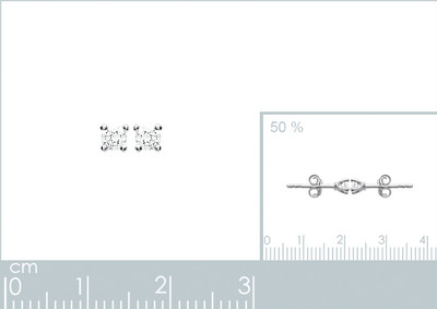 Oorringen zilver met cz - 15055103