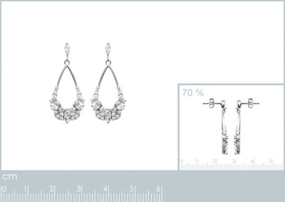 Oorhangers in zilver met zirkonium - 1520410