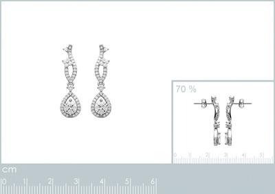 Oorhangers in zilver met zirkonium - 1510910