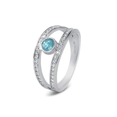 See you - Ring in zilver met zirkonium voor as - RG014