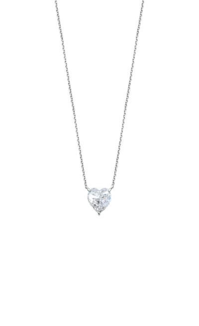 Lotus zilver - ketting zilver met zirkonium in hartvorm - LP2004-1/1