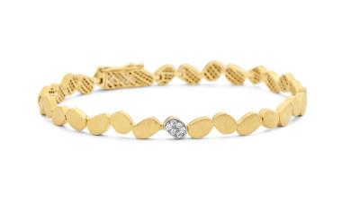 Femme adoree - armband in 18kt geel goud met briljant - 03A0301
