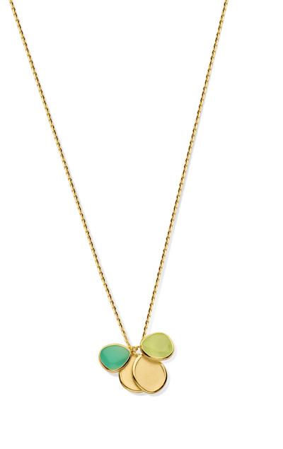 Femme adorée - Collier in 18kt geel goud met groene en blauwe tinten - 01C0106