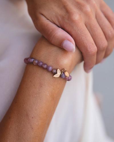 Didyma - Armband voor dames met edelstenen - Lepidoliet - NE3 - XS