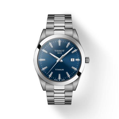 Tissot - herenhorloge titanium gentleman - metalen band - T127.410.44.041.00