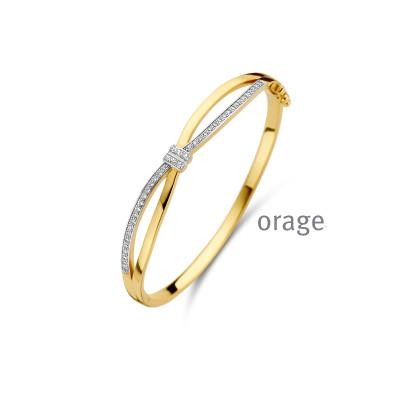 Orage - armband plaque met zirkonium - A1287 - 19cm