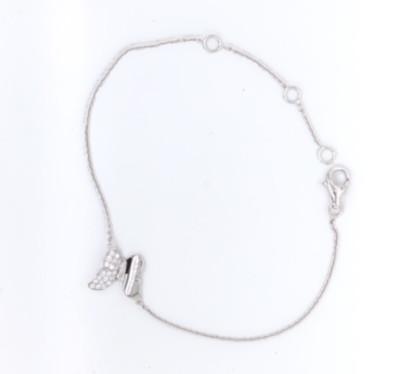Armband zilver vlinder met zirkonium - 90-10231-610-99-018