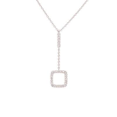 Collier 18kt wit goud met briljant - 10C0060W