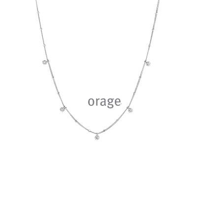 Orage - Ketting zilver met zirkonium - K3911 - 43cm