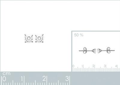 Oorringen zilver met cz - 15055104
