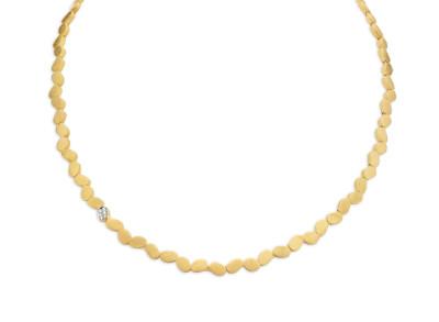 Femme Adorée - Geel Gouden collier met briljant - 03C0301