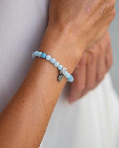 Didyma - Armband voor dames met edelstenen - Aquamarijn - NE1 - XS